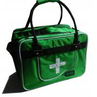 Wholesale Green Medical First Aid Bag tote bag-medical traveling bag-camping medical luggage-baggage from china suppliers