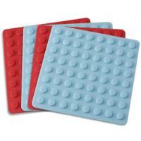 Wholesale Kitchenware bakeware silicone thick placemat with round lines from china suppliers