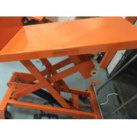 Wholesale Mobile Aerial Work Hydraulic Tilt Table Orange Color With Protection Bracket from china suppliers