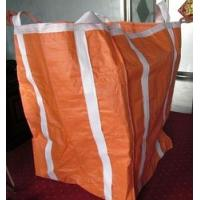 Quality Two Ton Loading Orange Big Bag FIBC With Four Loops 10'' High / Fully Belted for sale