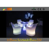 Wholesale 30 * 30 * 110 cm LED Lighting Furniture , LED bar table with glass top from china suppliers