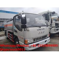 Buy cheap high quality JAC 5500L oil tanker fuel transport truck for sale, Bottom price JAC diesel tank delivery truck from wholesalers