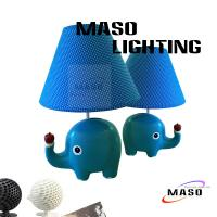 Wholesale Maso Resin Animal Table Lamp Elephant stand piggy bank small money saver E27 base T3007 from china suppliers