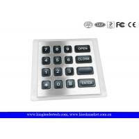 Wholesale 4x4 Matrix water resistant Backlit Metal Keypad with 11Pin Connector from china suppliers