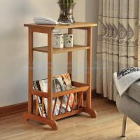 Wholesale Magazine rack, bamboo phone holder, three layer shelf, bamboo wooden magazine rack from china suppliers
