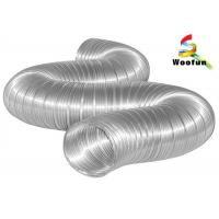 Wholesale Compressed Semi Rigid Aluminum Duct for Industrial HVAC Systems , 150mm Aluminium Flexible Ducting from china suppliers