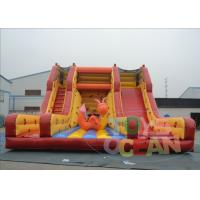 Wholesale Yellow Giant Inflatable Slide Rental / Adult Bouncy Inflatable Dry Slides from china suppliers