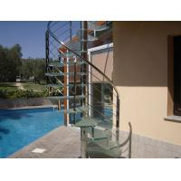 Wholesale Contemporary stainless handrail glass spiral staircase from china suppliers