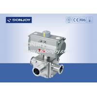Wholesale Sanitary Ball Valve Aluminum pneumatic actuator three-way non-retention L type and full port from china suppliers