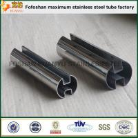 Buy cheap Glass handrail 316 stainless steel slotted pipes inox steel tubes from wholesalers