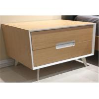 Quality Metal Leg Bedroom Furniture Night Stands Wtih 2 Drawers And Handle for sale