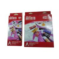 Wholesale Free Combination Color Art Painting Colours Acrylic Color Set 12 X 12ml / 24 X 12ml Tubes from china suppliers