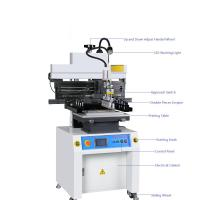 Buy cheap Cheap price SMT semi auto solder paste printer manufacturer for LED from wholesalers