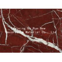 Quality High Glossy Membrane Marble Effect Vinyl Roll , Commercial PVC Furniture Film for sale