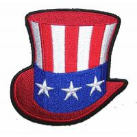 Wholesale Uncle SAM American Flag Hat Novelty Embroidered Biker Jacket Patch Iron on Backing or Sew from china suppliers