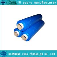 Wholesale Shrink Blue Color Hand Bundling Stretch Wrap Film 18 Inch x 80 Gauge x 1500 Feet 1 Roll from china suppliers