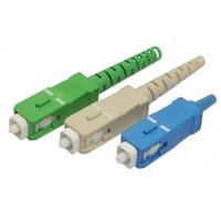 Wholesale SC / PC Fiber Optic Cable Connectors Pull Push Type For Data Processing Networks from china suppliers