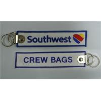 Wholesale Southwest Airlines Crew Bags Tag Embroidered Keychain Manufacturer from china suppliers