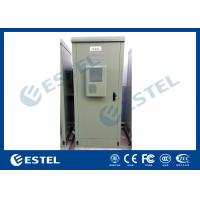 19 Inch Double Wall Green Outdoor Telecom Cabinet For Wireless Communication Base Station
