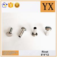 Wholesale Youxin Hardware High Quality Bright Nickel Metal Hollow Rivet from china suppliers