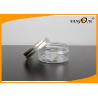 Wholesale Empty Round Transparent PET Plastic Cream Jars with Aluminum Caps120g , Custom Color from china suppliers