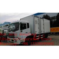 Wholesale hot sale dongfeng tianjin refrigerated truck with US Carrier reefer, best price dongfeng 15tons cold room truck for sale from china suppliers