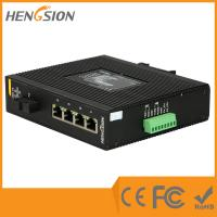 Wholesale Din Rail Gigabit Ethernet Switch , 1 Gigabit Fiber 5 Port Network Switch from china suppliers