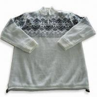 Wholesale Men's Sweater, Made of Acrylic, Available in Various Sizes, Suitable for Outdoor Use from china suppliers
