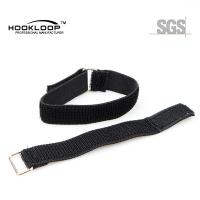 Quality Narrow Adjustable Velcro Straps , Velcro Leg Straps With Metal Buckle for sale
