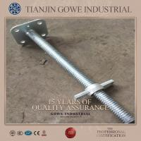 Wholesale Q235 / Q345 Steel Rebar Scaffolding Adjustable Jack Base Hot Dipped Galvanized from china suppliers