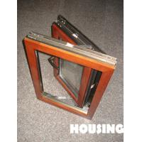 Wholesale Laminated Glass Aluminum Window , Wood Cladding With Low-e Glass from china suppliers