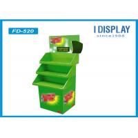 Wholesale 3 Tier Advertising Cardboard POP Displays Stand Green Painting For Toys from china suppliers