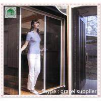 Buy cheap China factory Polyester pleated mesh trackless retractable fly screen door from wholesalers