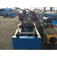Buy cheap Double Row C Purlin Roll Forming Machine , Metal Stud Roll Forming Machine By Chain from wholesalers