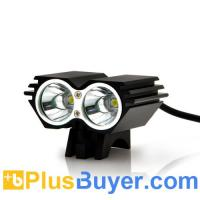 Wholesale Waterproof Dual LED Bicycle Headlight + Headlamp (1600 Lumens, Rechargeable) from china suppliers