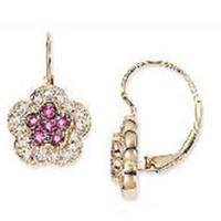 Wholesale Earring(Pink Ruby and Diamond 14K Gold Earrings-EVIE0176) from china suppliers