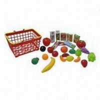 Wholesale Play Food/Fruits Set with Basket and Vivid Color, Suitable for Children from china suppliers