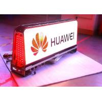 Quality 12VDC ETL advertising taxi led screen / led taxi display Super Clear Vision for sale