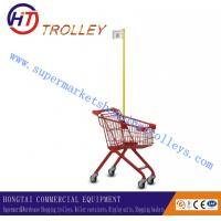 Wholesale Small Powder Plated Children Shopping Carts 20 Liters , Mini Kid Shopping Trolley from china suppliers