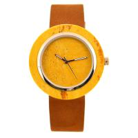 Wholesale Creative Marble Face Watch , Water Resistant Slim Stone Watch With Leather Strap from china suppliers