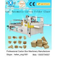 Wholesale Semi - Auto Corrugated Carton Press Pasting Box Machine Simple Structure from china suppliers