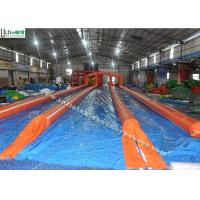 Wholesale 3 Lanes Orange Commercial Inflatable Water Slides Slip N Slide For City Adventure from china suppliers