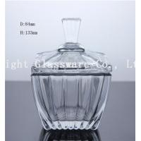 Wholesale high white glass square fruit plate, glass candy container with lid from china suppliers