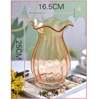 Wholesale Europe type style falbala glass vase from china suppliers