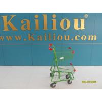Wholesale Two Basket Grocery Shopping Trolley , 4 wheel shopping cart with clear coating from china suppliers