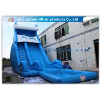 Wholesale Blue Dolphin Inflatable Rental Water Slides Bounce House For Big Kids / Teenagers from china suppliers