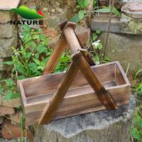 Wholesale Wood product » Wood planter & pot » Wooden Rectangular Shaped Outdoor Planter for Flower from china suppliers