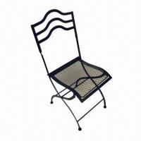 Wholesale Patio Foldable Chair, Made of Mesh Iron and Iron Bar with Powder Coating  from china suppliers