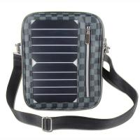 Wholesale 5W Water Resistan Solar Charging Backpack With Solar Panel Black Color from china suppliers