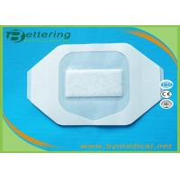 Wholesale B0607M Medical permeamble sterile transparent breathable waterproof PU film IV wound dressing with absorbent pad from china suppliers